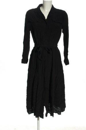 Oysho Langarmkleid schwarz Elegant