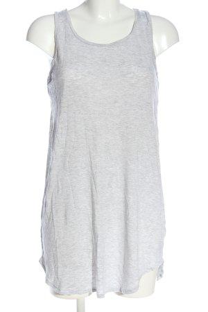 Oysho Top lungo grigio chiaro puntinato stile casual