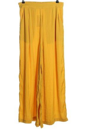 Oysho Pantalone Marlene giallo pallido stile casual