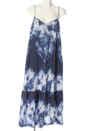 Oysho Maxi abito blu-bianco motivo grafico stile casual