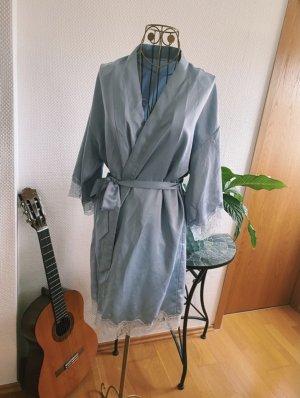 Oysho Peignoir gris clair-bleu azur