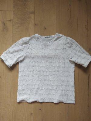 Oysho Shirt Knit Crinkle Puffärmel