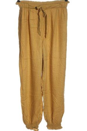 Oysho Pantalone jersey giallo pallido stile casual