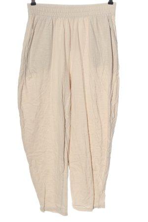 Oysho Pantalone jersey crema stile casual