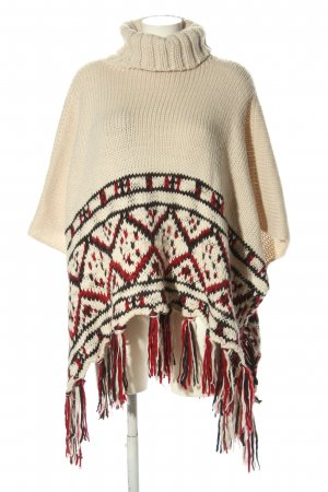 Oysho Knitted Poncho graphic pattern casual look