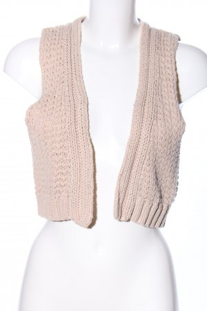 Oysho Strickweste creme Zopfmuster Casual-Look