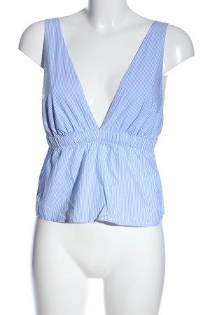 Oysho Canotta a bretelle blu-bianco stampa integrale stile casual