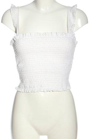 Oysho Canotta a bretelle bianco stile casual