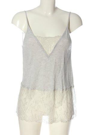 Oysho Canotta a bretelle grigio chiaro-bianco sporco puntinato stile casual