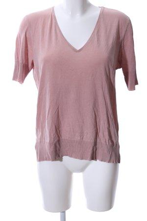 Oysho V-Ausschnitt-Shirt pink Casual-Look
