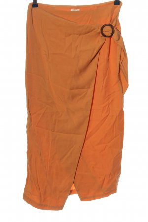 Oysho Wraparound Skirt light orange casual look