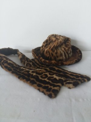 Fur Hat beige-black pelt