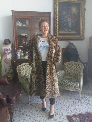 Futrzany płaszcz jasnobrązowy-beżowy Futro