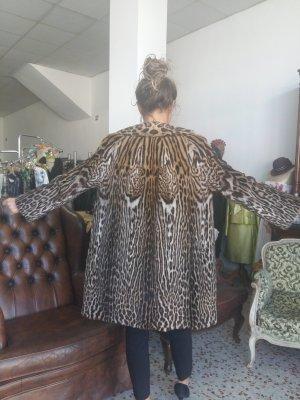Futrzany płaszcz jasnobrązowy-kremowy Futro