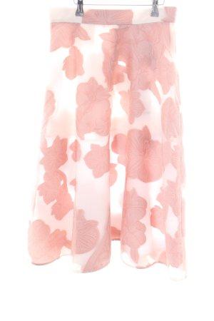 P.A.R.O.S.H. High Waist Rock pink-weiß Blumenmuster Elegant