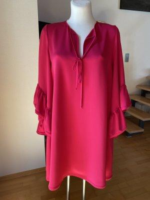 P.a.r.o.s.h. Kleid pink Volant Ärmel Hängerkleid fuchsia