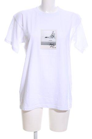 P.A.R.O.S.H. T-Shirt weiß-schwarz Motivdruck Casual-Look