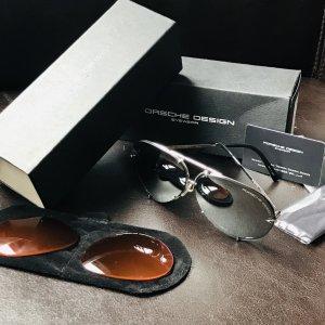 P8478 Porsche Design Piloten-Sonnenbrille mit Wechselgläsern