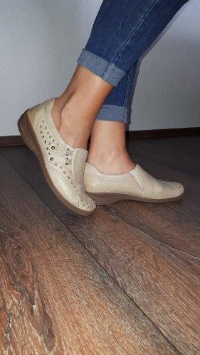 ara Zapatos Mary Jane marrón arena-crema