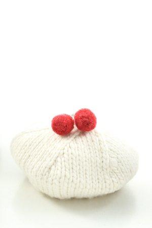 pacha Sombrero de punto blanco-rojo look casual