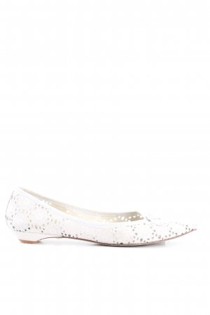 Paco Gil Ballerinas with Toecap white casual look