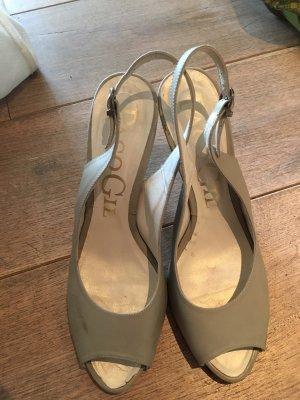 Paco Gil grau, Gr .40, weiches Leder, high heel