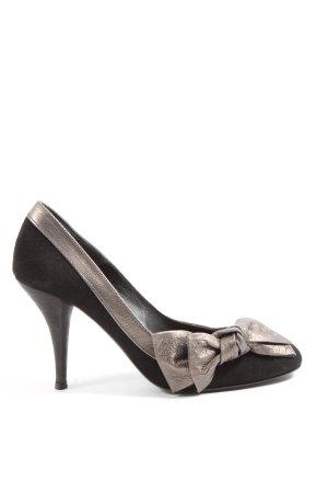Paco Gil High Heels schwarz-silberfarben Business-Look