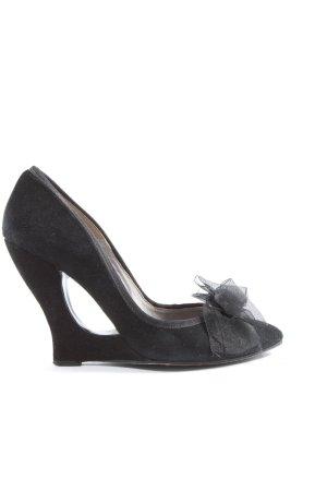 Paco Gil Zapatos de punta negro elegante