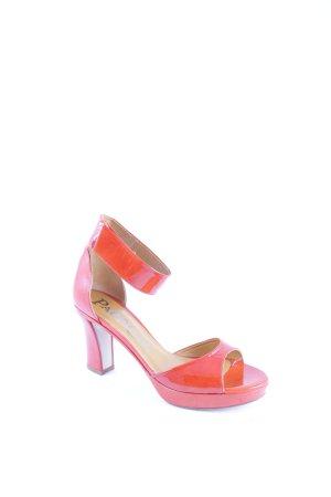 Paco Gil Peeptoe Pumps orange extravaganter Stil