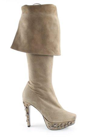 Paco Gil Platform Boots cream extravagant style