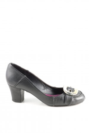 Paco Gil Backless Pumps black casual look