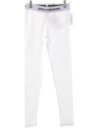 Paco rabanne Leggings weiß-schwarz sportlicher Stil