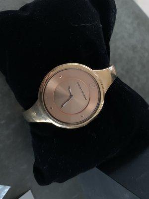 Paco rabanne Reloj con pulsera metálica color rosa dorado
