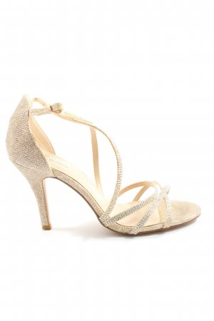 pacomena High Heel Sandal gold-colored-silver-colored elegant
