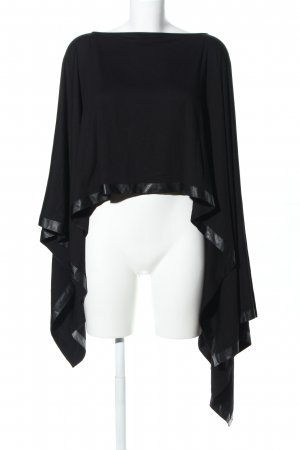 Pad & Pen Poncho negro look casual