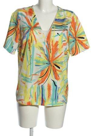 Pada Kurzarm-Bluse abstraktes Muster Casual-Look