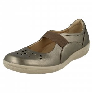 Mary Jane Ballerinas grey brown