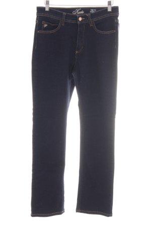 Paddock's High Waist Jeans blau Schriftzug gestickt Casual-Look