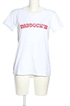 Paddock's T-Shirt weiß Schriftzug gedruckt Casual-Look