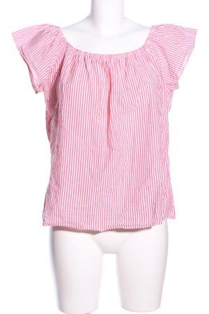 Page one Blusentop pink-weiß Streifenmuster Business-Look