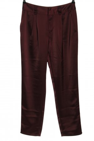 Paige Pleated Trousers red elegant
