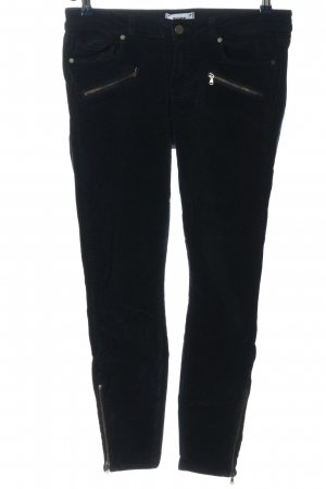 Paige Corduroy Trousers black casual look