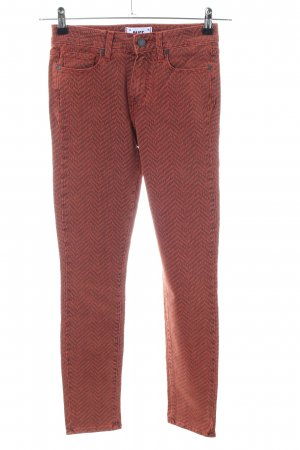 Paige Five-Pocket-Hose braun-rot grafisches Muster Casual-Look