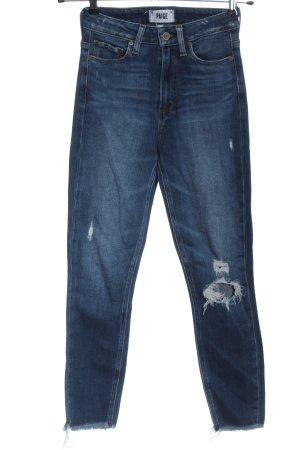 Paige Jeans a vita alta blu stile casual