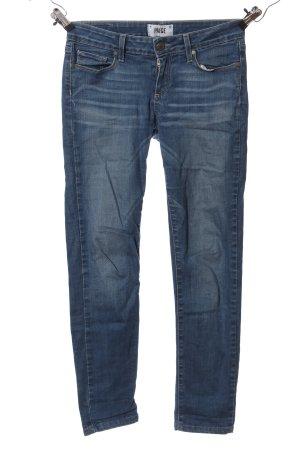 Paige Jeans vita bassa blu stile casual