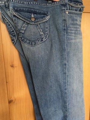 Paige Jeans Bootcut mit tiefem Bund