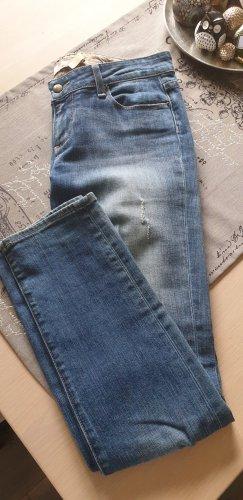 Paige Jeans boyfriend blu Cotone