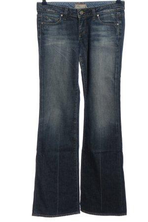 Paige Jeansowe spodnie dzwony niebieski W stylu casual