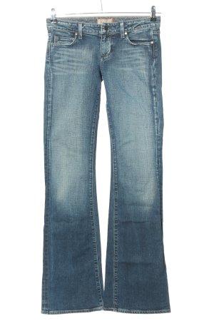 Paige Jeansschlaghose blau Casual-Look
