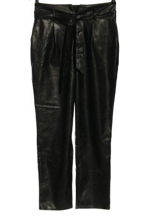 Paige Faux Leather Trousers black elegant